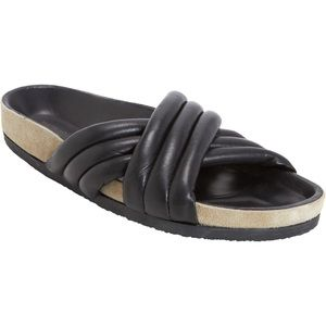 Isabel Marant Etoile Holden Black Leather Slides 7